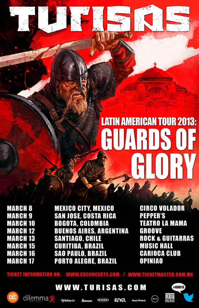 GUARDS OF GLORY - Latin American tour 2013