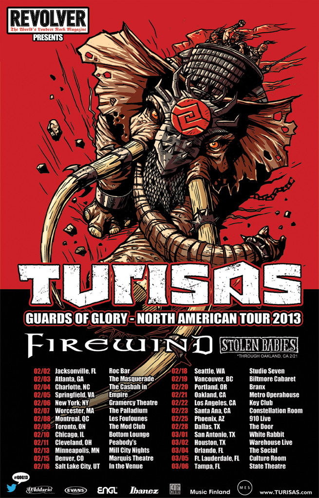 TURISAS - Guards of Glory - North American tour 2013