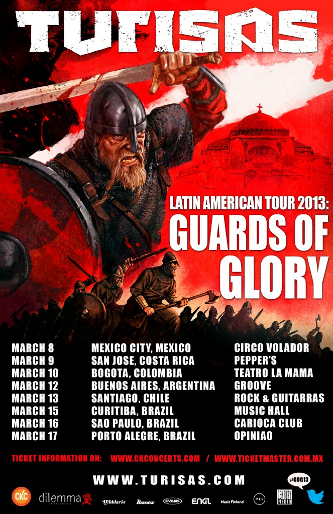 Guards of Glory, updated tour dates
