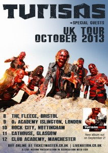 Turisas UK tour October 2013