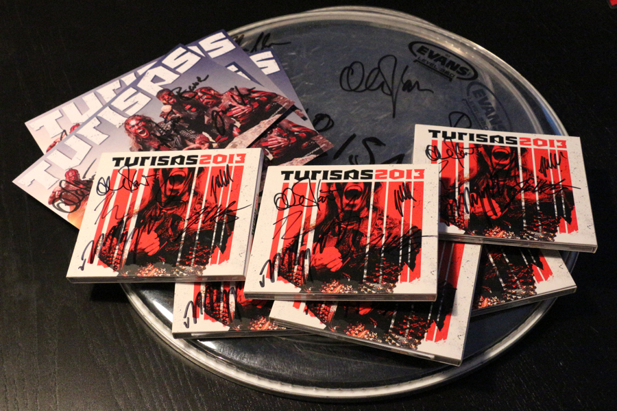 Turisas signed merch competition Oct 2013 Olli